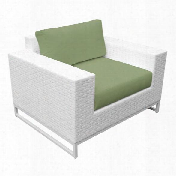 Tkc Miami Patio Wicker Club Chair In Green