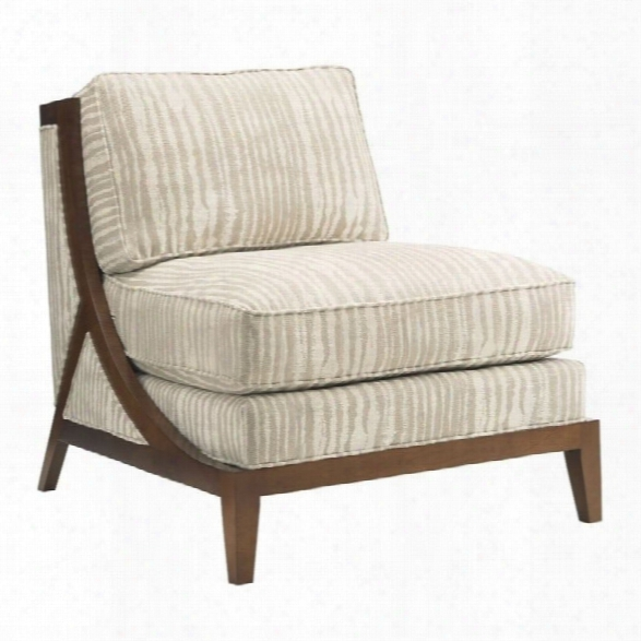 Tommy Bahama Island Fusion Tasman Fabric Chair In Grey And White