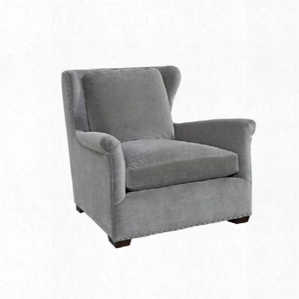 Universal Furniture Curatedhaven Velvet Arm Chair In Gray