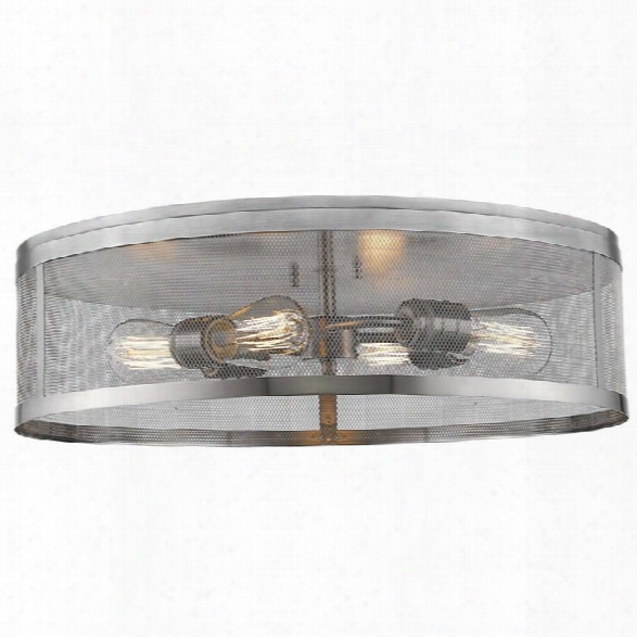 Z-lite Meshsmith 4 Light Flush Mount In Brushed Nickel