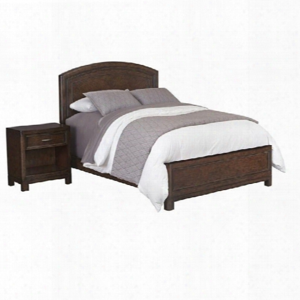 Home Styles Crescent Hill 2 Piece Wood Queen Bedroom Set In Tortoise