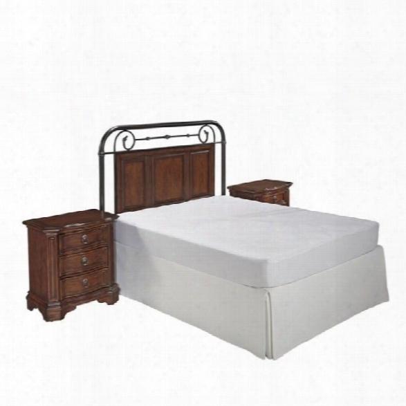 Close Styles Richmond Hill Headboard 3 Piece Bedroom Set In Cognac