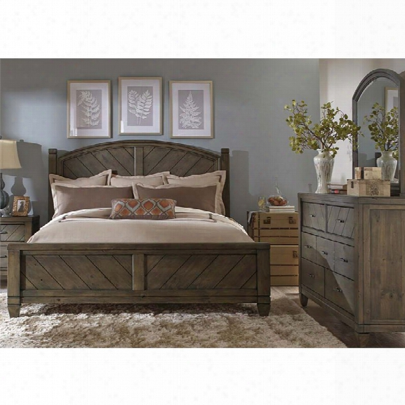 Liberty Furniture Modern Country 3 Piece Queen Poster Bedroom Set