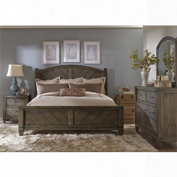 Liberty Furniture Modern Country 4 Piece Queen Poster Bedroom Set