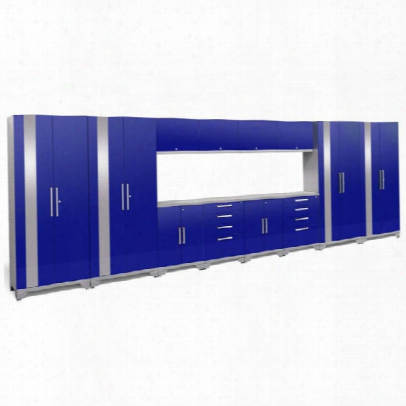 Newage Performance 2.0 14 Piece Cabinet Set In Blue