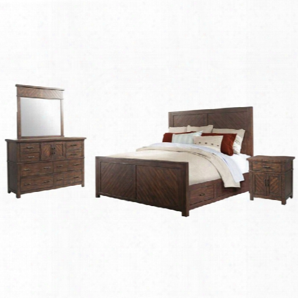 Picket House Furnishings Dex 4 Piece King Platform Storage Bedroom Set