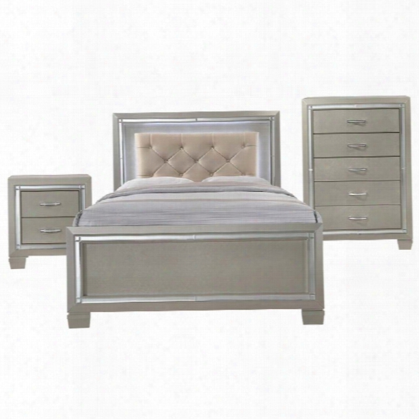Picket House Furnishings Glamour 3 Piece Full Panel Bedroom Set