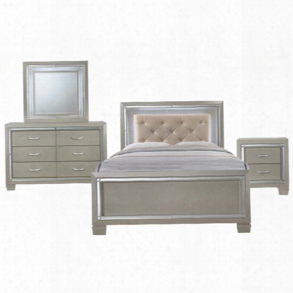 Picket House Furnishings Glamour 4 Piece Full Panel Bedroom Set