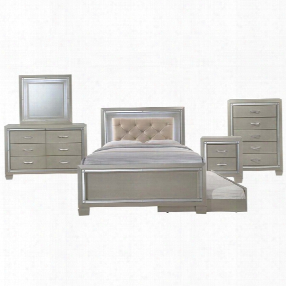 Picket House Furnishings Glamour 6 Piece Full Panel Bedroom Set