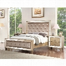 Abbyson Living Francesca 3 Piece King Bedroom Set in Gold