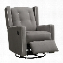 Baby Relax Mikayla Upholstered Swivel Gliding Recliner in Dark Gray