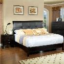 Furniture of America Muscett 2 Piece King Bedroom Set in Espresso