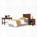 Home Styles Chesapeake Twin Headboard 3 Piece Bedroom Set in Cherry