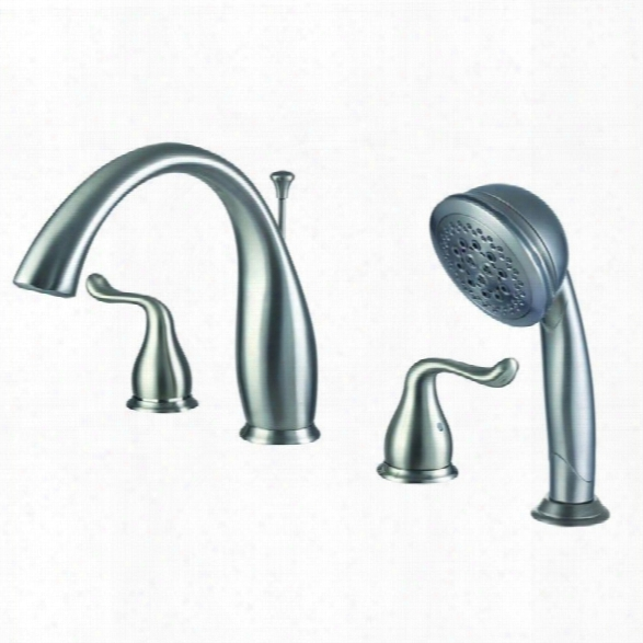 Yosemite Roman Tub Faucet With Hand-held Shower In Brushed Nickel