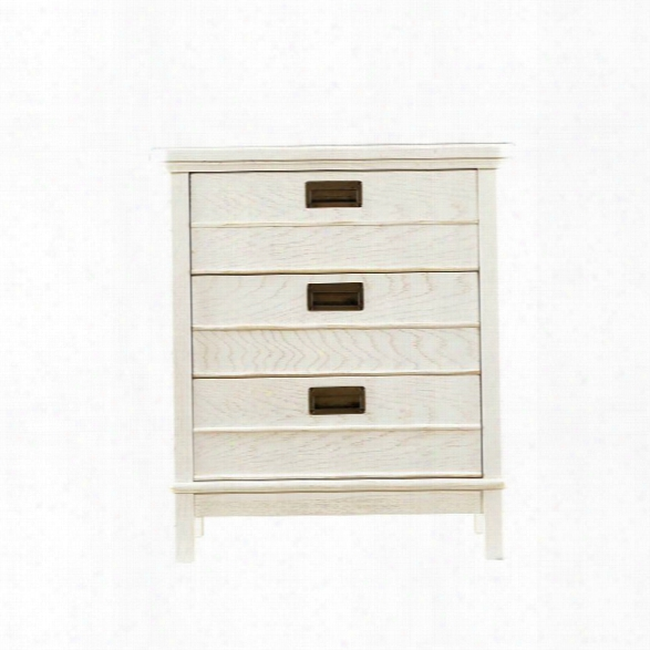 Coastal Living Resort Cape Comber Chairside Chest In Nautical White