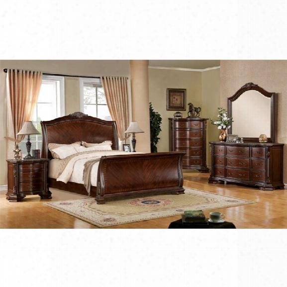 Furniture Of America Cliffton 4 Piece Queen Sleigh Bedroom Set