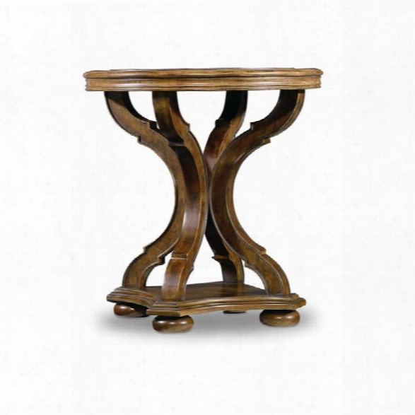 Hooker  Furniture Archivist Round End Table In Pecan