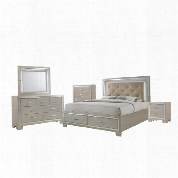 Picket House Furnishings Glamour 5 Piece Queen Storage Bedroom Set