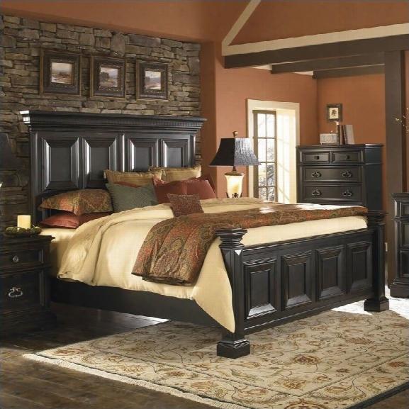 Pulaski Brookfield 2pc King Panel Bed Set In Ebony Finish