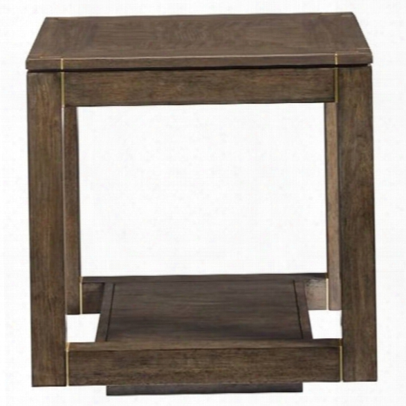 Stanley Furniture Panavista Floating Parsons End Table In Quicksilver