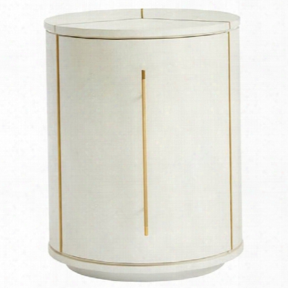 Stanley Furniture Panavista Sundial Drum Table In Pearl