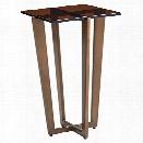 Lexington Zavala Vortex Glass Top End Table in Bronze