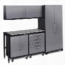 NewAge Performance Plus 2.0 6 Piece Diamond Cabinet Set in Silver