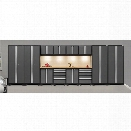 NewAge Products Bold 3.0 Series 14 Piece Cabinet Set in Gray