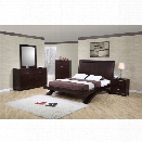 Picket House Furnishings Zoe 6 Piece King Bedroom Set in Espresso