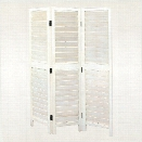 Wayborn Chinese Oakwood Low Venetian Room Divider in Whitewash