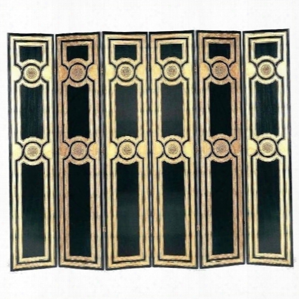 Wayborn Room Divider In Black And Gold