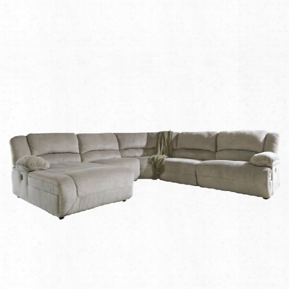 Ashley Toletta 5 Piece Left Chaise Reclining Sectional In Granite