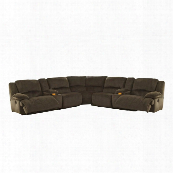 Ashley Toletta 7 Piece Power Reclining Sectional In Chocolate