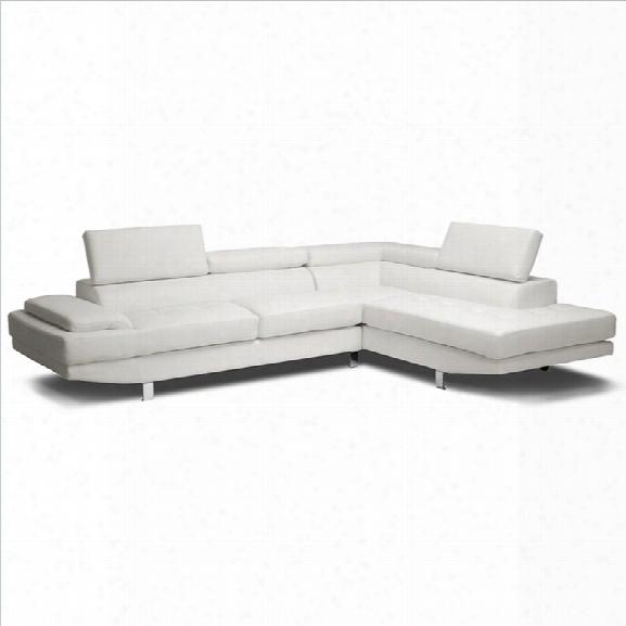 Baxton Studio Selma Sectional Sofa In White