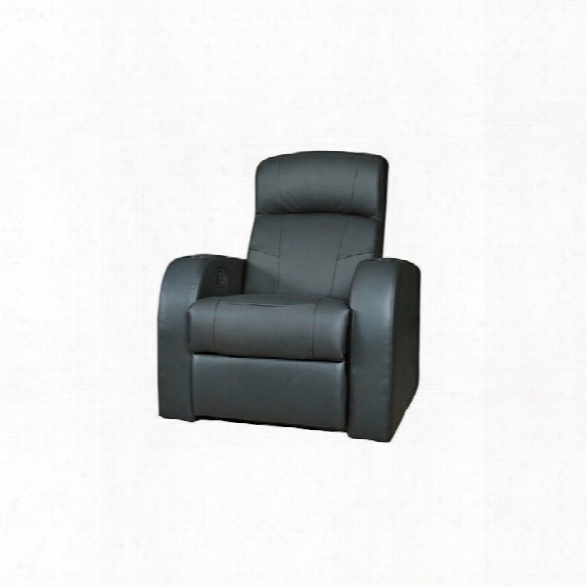 Coaster Furniture Leather Home Theater Recliner In Black