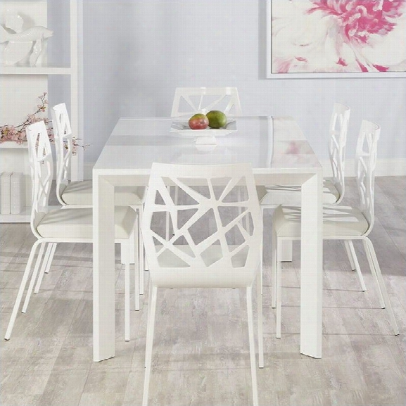 Eurostyle Adara Sophia 7 Piece Dining Set In White