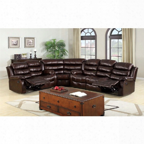 Furniture Of America Anchester Sectional I N Dark Brown