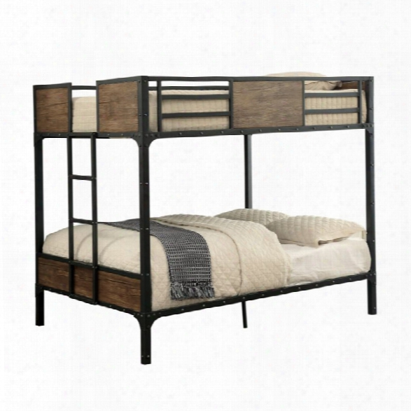 Furniture Of America Baron Full Over Full Bunk Bed In Black