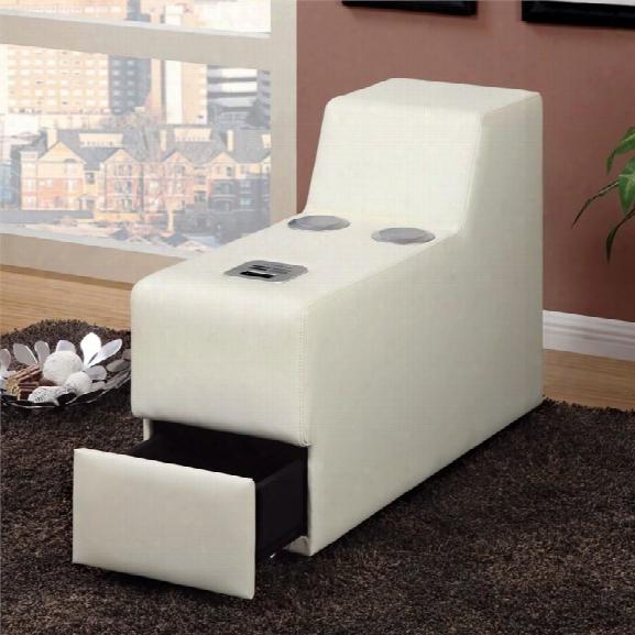 Furniture Of America Contreras Leatherette Console In White