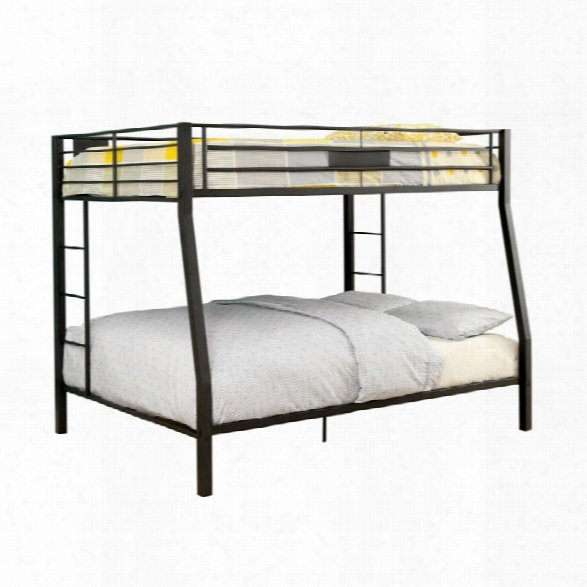 Furniture Of America Rivell Full Over Queen Metal Bunk Bed In Black
