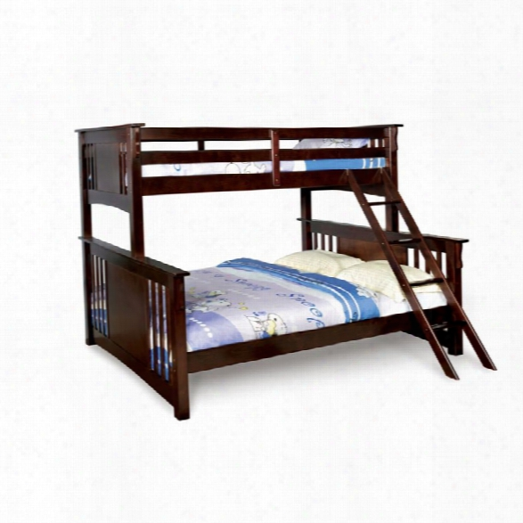 Furniture Of America Roderick Twin Xl Over Queen Bunk Bed In Walnut