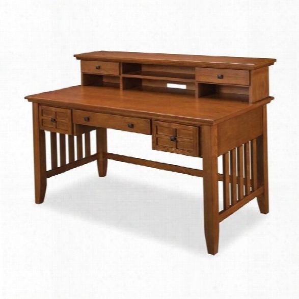 Home Styles Arts & Crafts Executive Computer Desk With Hutch