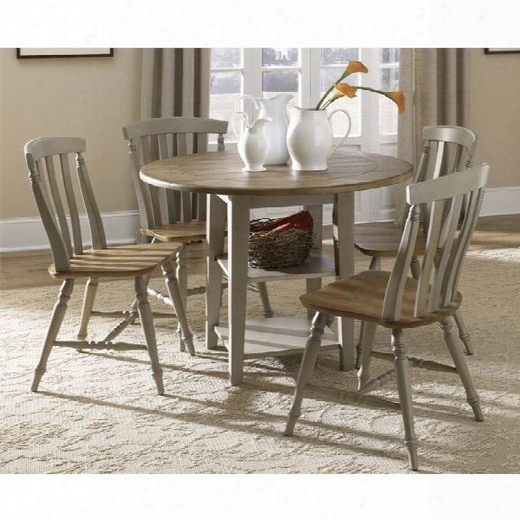 Liberty Furniture Al Fresco 3 Piece Drop Leaf Dining Set In Driftwood