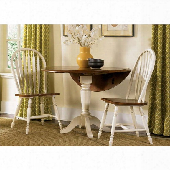Liberty Furniture Low Country 3 Piece Drop Leaf Dining Set In Linen