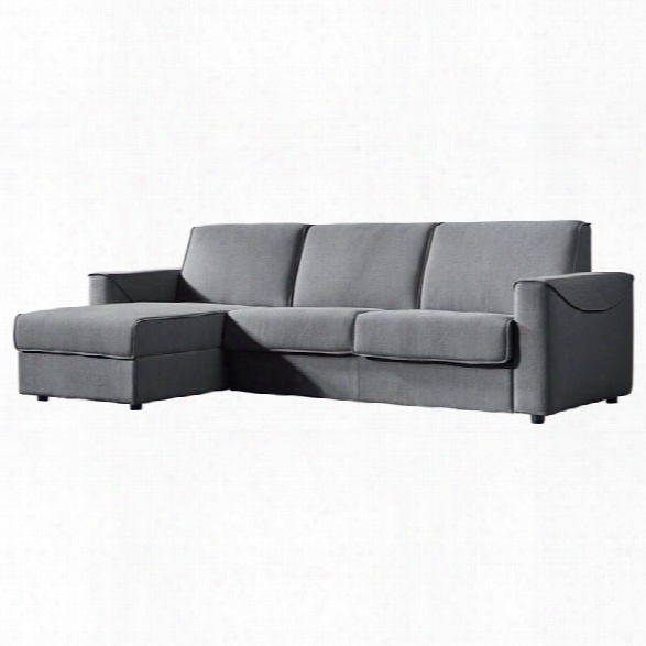 Moe's Chill Left Facing Storage Sleeper Sectional In Gray