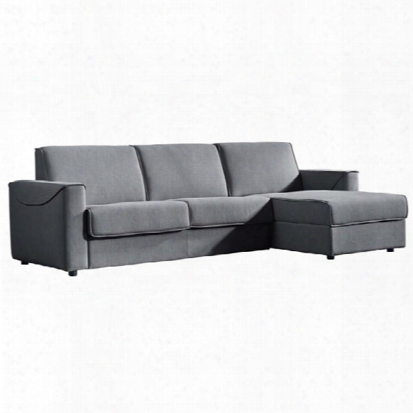Moe's Chill Right Facing Storage Sleeper Sectional In Gray
