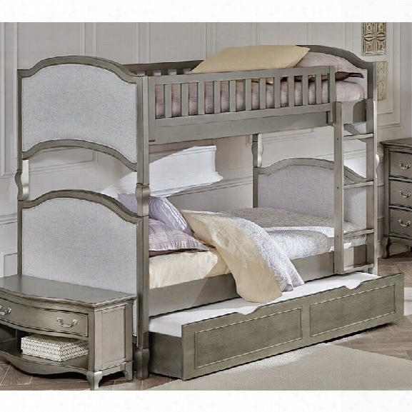 Ne Kids Kensington Victoria Twin Over Twin Bunk With Trundle In Silver