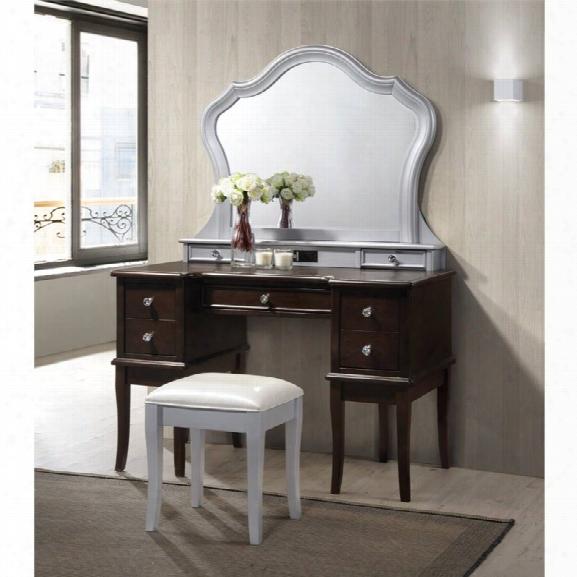 Picket House Furnishings Allie 3 Piece Vanity Set In Walnut