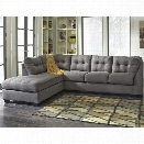 Flash Furniture Microfiber Left Facing Sectional in Charcoal