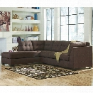 Flash Furniture Microfiber Left Facing Sectional in Walnut